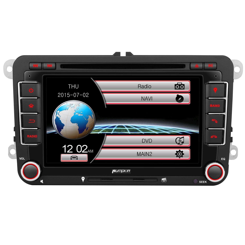 Mk5 mk6 golf gti 2016 car golf mk5 radio golf mk5 mk6 car stereo dvd - Pumpkin 2 Din Car Stereo 7 Inch Double Din Head Unit Amazon Co Uk Electronics