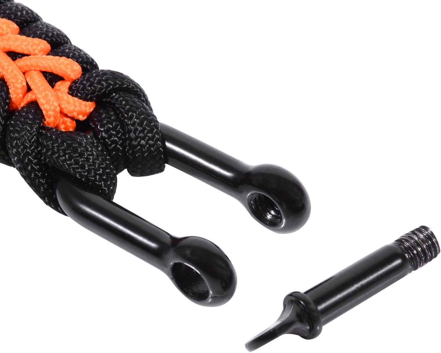 Adjustable Size The Friendly Swede Paracord Survival Bracelet with Micro Cord and D-Shackle