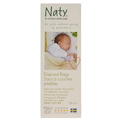 Naty 7330933140331 - Bolsas para pañal desechables, 50 unidades