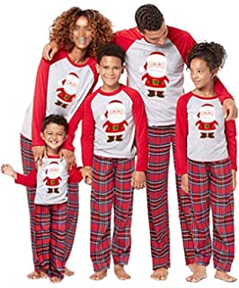 Happyear Conjunto De Pijama De Navidad Familiar Playera Larga Para
