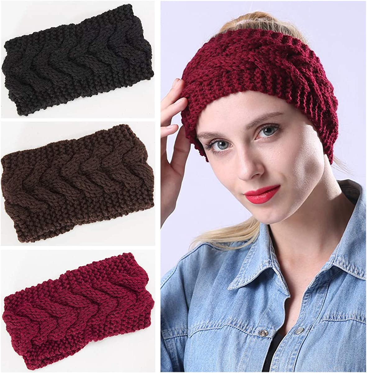 3 Pack Cable Knitted...