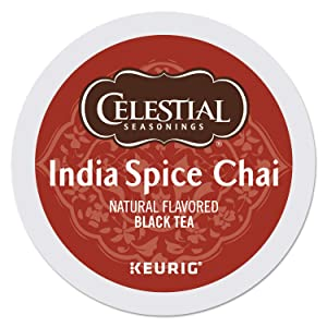 Celestial Seasonings India Spice Chai,K-Cup Portion Pack for Keurig K-Cup Brewers, 24-Count