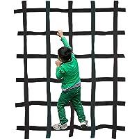 "Majestic Ally 72""x54"" (6 Feet x4.5 Feet) Outdoor Climbing Webbing nets for Kids - Playground Climbing net - Indoor…"