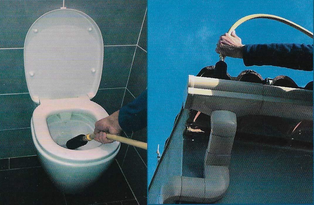 D/éboucheur haute pression /écologique grand diam/ètre pour toilettes 50-110 mm D/ébouche Expert/® wc /évacuations de 50 /à 110 mm goutti/ère