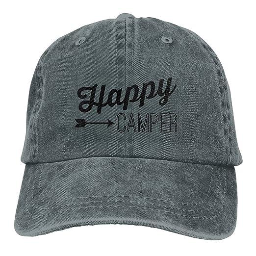 b2bce5b13ef Happy Camper Unisex Baseball Caps Adjustable Plain Dad Hat Sun Cap Outdoor  Sports Hat