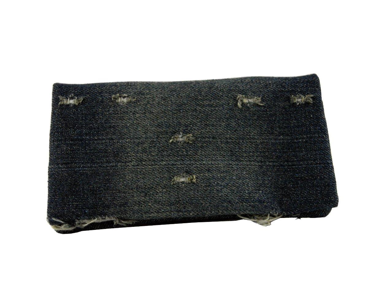 TABAKTASCHE Tabakbeutel YOLO Old Jeans- Tasche für Drehtabak anspruchsvollem Design und Fächern für Zigarettenfilter, Zigarettenpapier und Schnitttabak. Eva-Gummi Tasche. Bis zu 50 Gramm Tabak. FT-XXL-COT-54