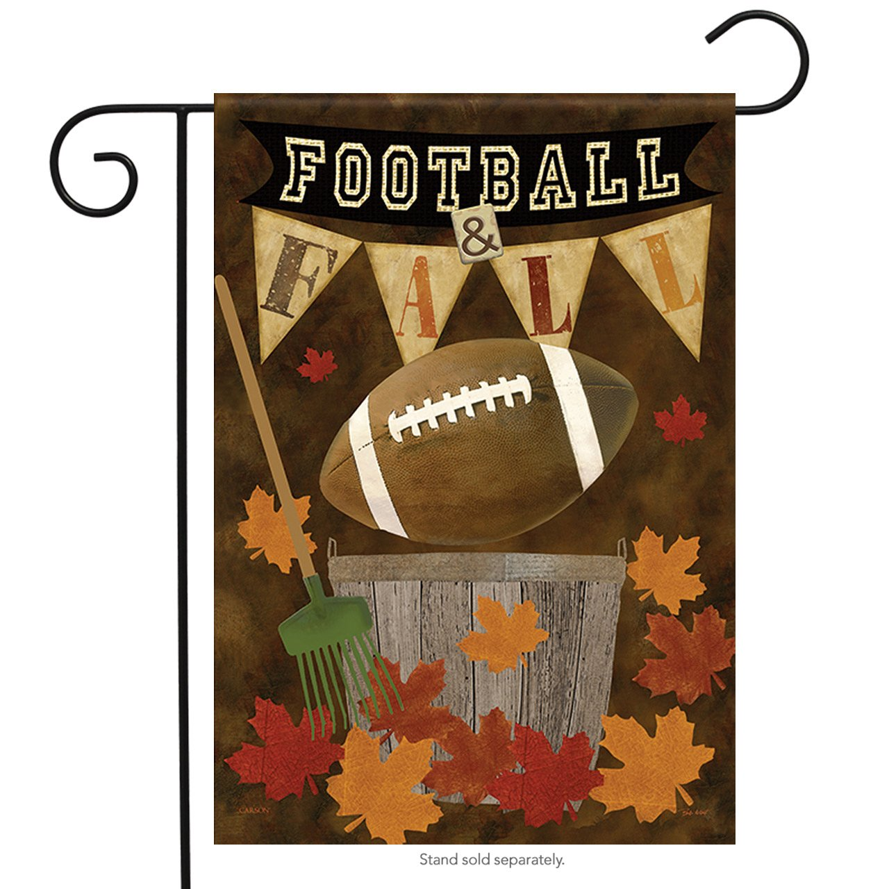 Amazon.com : Football Fall Garden Flag Autumn Leaves Decorative ...