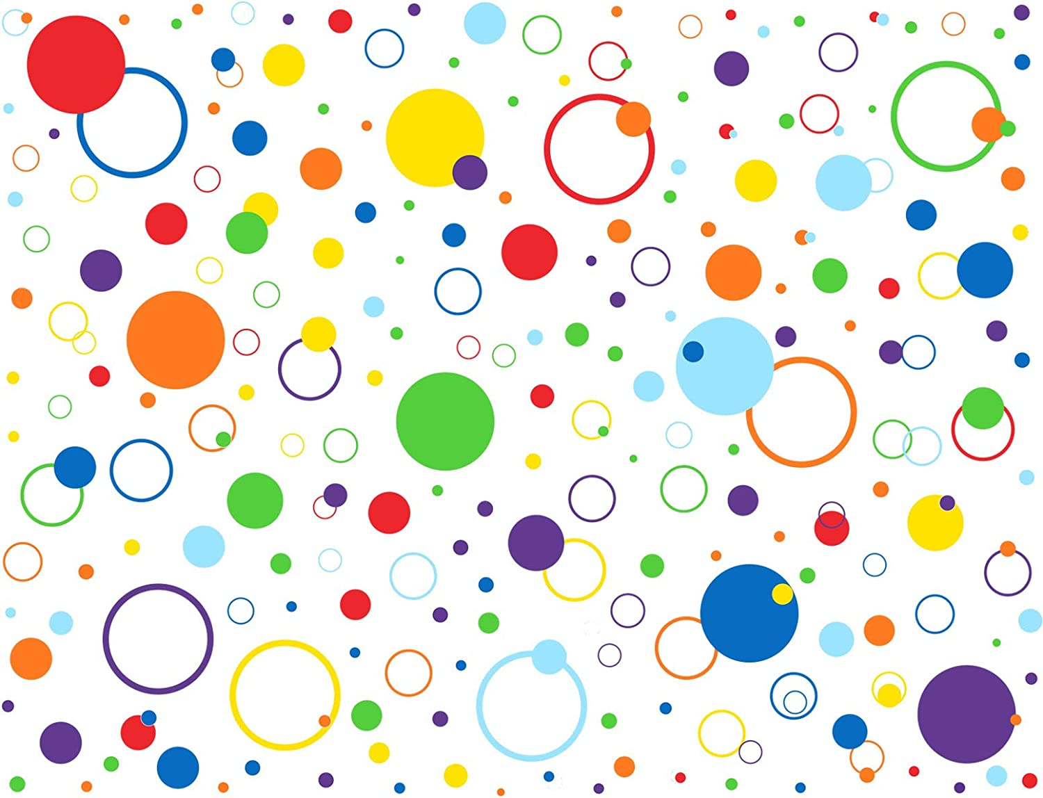Mozamy Creative Dots Wall Decals (252 Count) Peel and Stick Polka Dots Wall Decal Primary Colors Polka Dot Decor Vinyl Circle Dot Decals Classroom Wall Decals Playroom Wall Decor