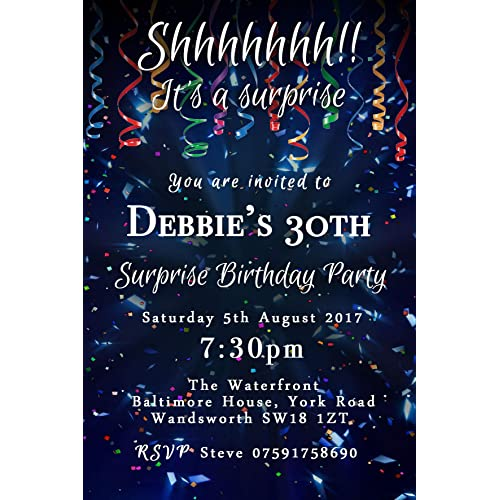 surprise party invitations amazon co uk