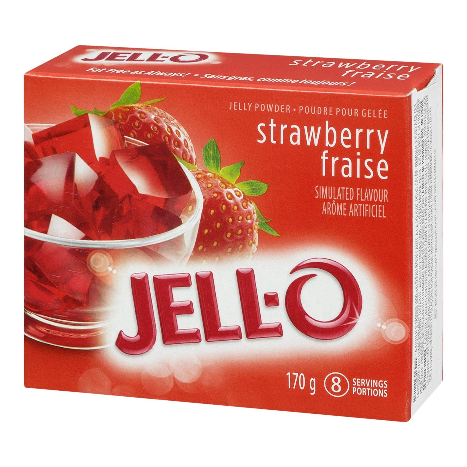 Jell-O Jelly Powder, Strawberry, 170g (Pack of 24)