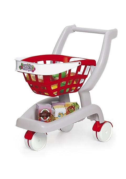 Chicos - 2 en 1 Mi primer carrito de supermercado, multicolor (Fábrica de Juguetes