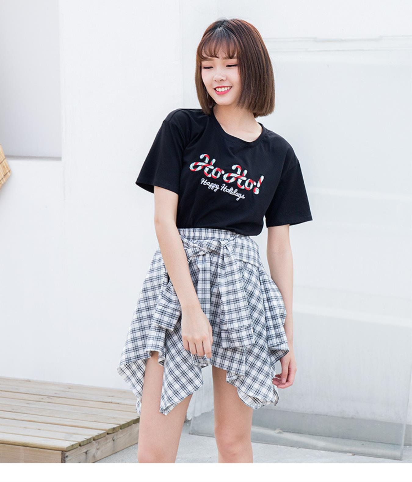Summer Women Letter Embroidery T Shirt Short Sleeve O-Neck Cotton Tops All Match Loose Top New Arrive Clothing