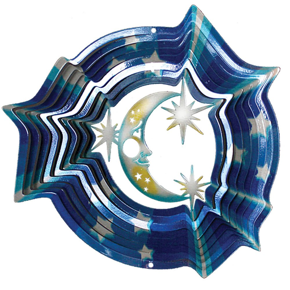 Iron Stop D280-6 16cm Designer Moon and Stars Wind Spinner Woodstream Europe Limited