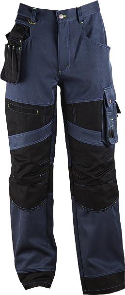 Stenso Impala® - Pantalone da Lavoro Cargo - Tasche Removibili e Ginocchia  rinforzate - Blu Navy  Amazon.it  Abbigliamento 0da9a93a238