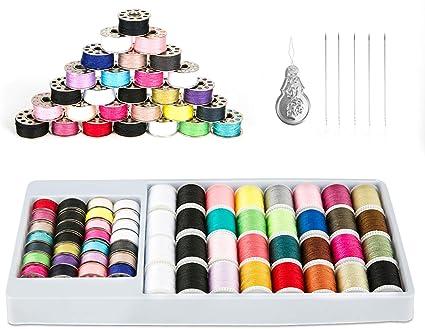 50 Colors Sewing Thread Set  Machine Spools Bobbins Box Case Hand DIY Accessory