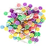 TECH-P 1 3/4'' Straight Button Head Pins Decorative Pins For Sewing DIY Arts&Crafts Projects-Boxed (2X100 Count)