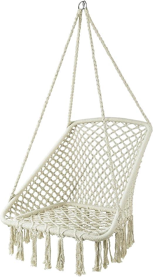 SoBuy OGS43-MI Silla Colgante con Cuerda de algodón Silla Hamaca ...