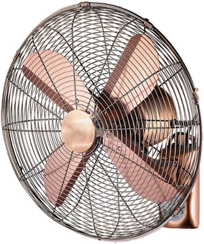 GOHHK Electric Fan/Retro Antique Metal Wall Fan/Remote Control Swing Fan, Home Industry with Remote Control (Size : 18inch)