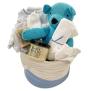 Organic Baby Gift Basket - Take Me Home Set Blue