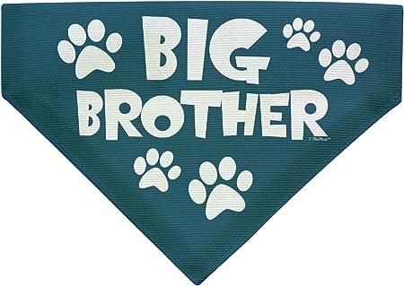 Birth Announcement Dog Tie on Bandana Pink or Blue Polka Dot Big Sister Big Brother