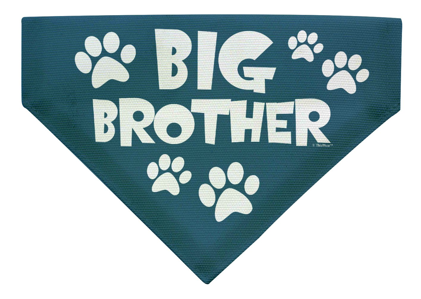 Amazon ThisWear Birthday Gifts For Dogs Big Brother Dog Outfit Small Bandana Scarf Bib Bro Pet Supplies