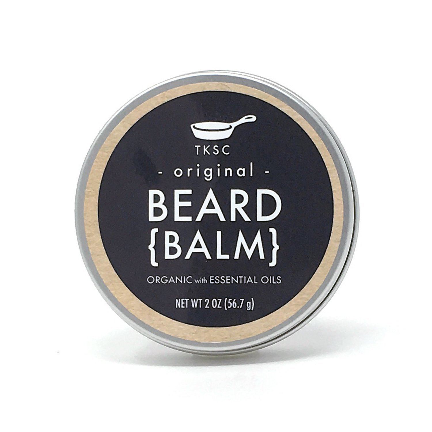 Organic Beard Balm - Original Scent (2 oz) - Handmade with All Natural Ingredients by Tiny Kitchen Soap Co.