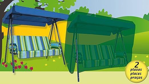 Funda cubre muebles de jardín impermeable para balancín 2 plazas. Polietileno verde.: Amazon.es: Jardín