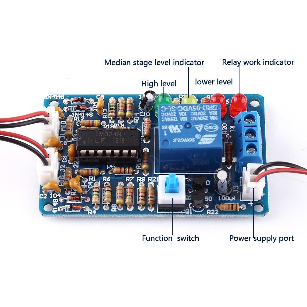 5V Controlador de Nivel de Líquido de Alta Sensibilidad Sensor de Agua Automático Módulo de Detector de Nivel de Agua: Amazon.es: Industria, ...