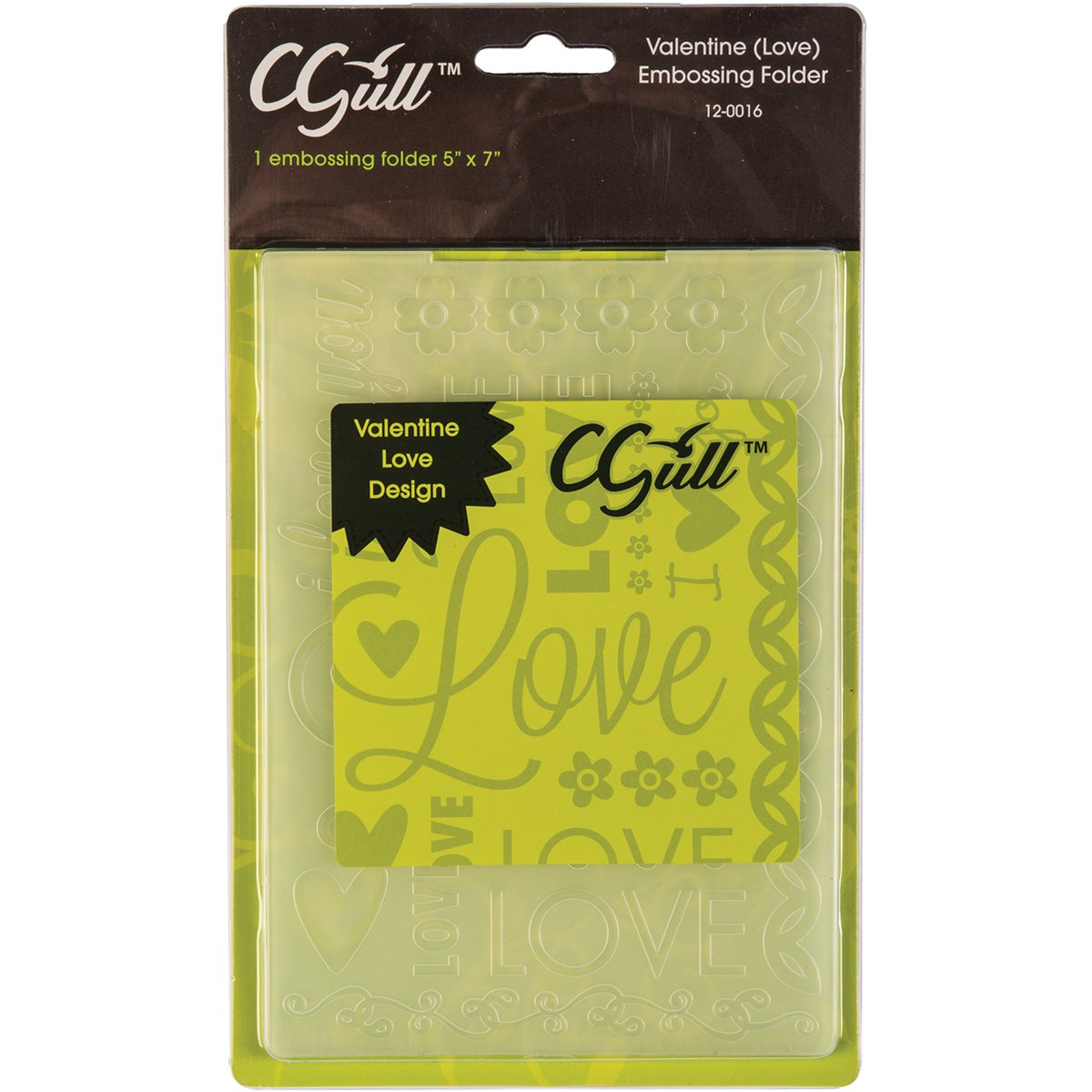 C-Gull Embossing Love Folder, 5x7-Inch 12-0016