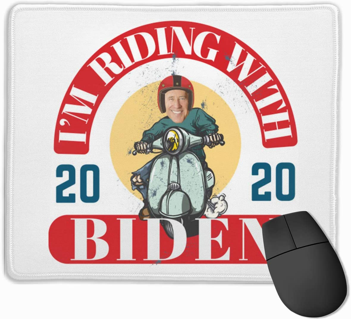 Joe Biden Campaign Rubber Mousepad Gaming Mouse Pad with Stitched Edge 11.8x9.8