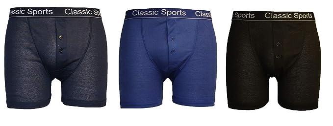 4e5a6cdf794c5 3 Pair Mens Designer Classic Sport Boxer Shorts Cotton Underwear Briefs  Trunks: Amazon.co.uk: Clothing