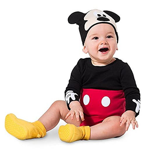 5b730cd61f8 Amazon.com  Disney Mickey Mouse Costume Bodysuit Set (Red)  Clothing