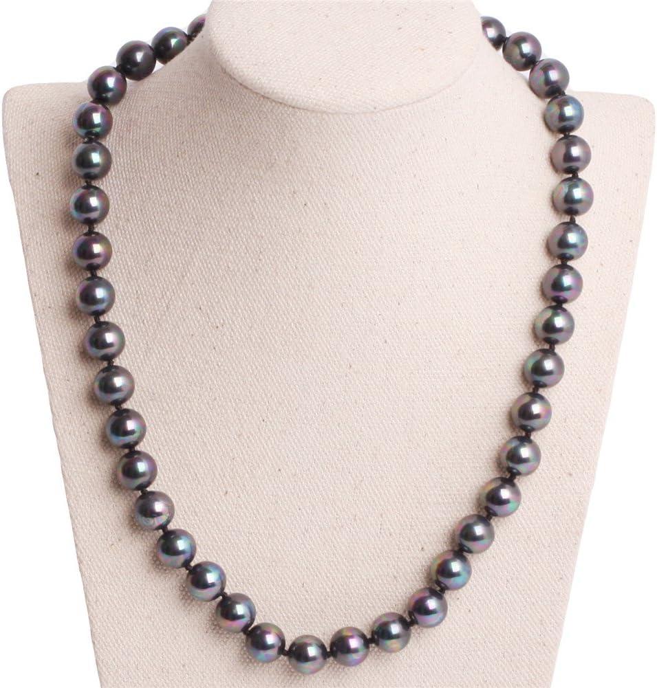 GEM-inside Necklace Semi Black Shell Gemstone Fashion Jewelry For Women 18