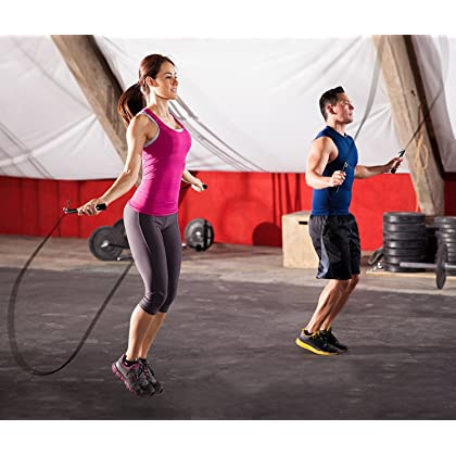 Mysuntown Speed Jump Rope Fully Adjustable Super Lightweight & Durable-Best for Fitness Training