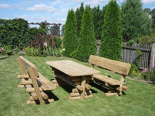 Bella Garden Barni - Juego de sillas y Mesa para jardín (Estilo rústico): Amazon.es: Jardín