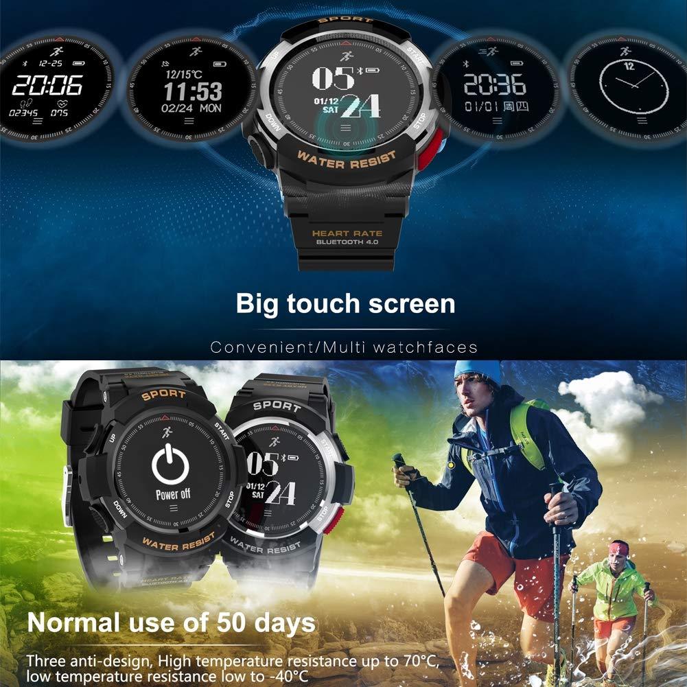 FXXUK Hombres Smartwatch Bluetooth Deportes a Prueba de Agua ...