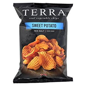 TERRA Sweet Potato Chips with Sea Salt, 6 oz. (Pack of 12)