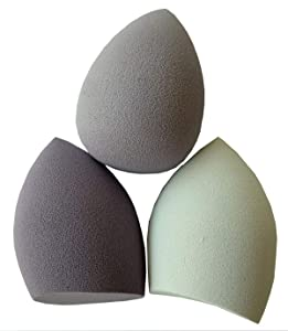 Beauty Egg 3 Pcs Set,For Liquid Foundation, Creams, and Powders,Latex Free Wet and Dry Makeup Sponge(purple)
