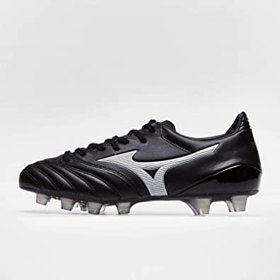 71d8ed9fb Morelia Neo II K Leather MD FG Football Boots - Black Silver - Size ...