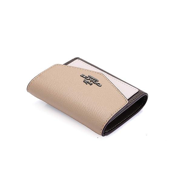 3ff2143e091b Amazon   [コーチ] COACH 27252三つ折り財布レディースウォレットホックボタン開閉 お札入れ (beige) [並行輸入品]   財布