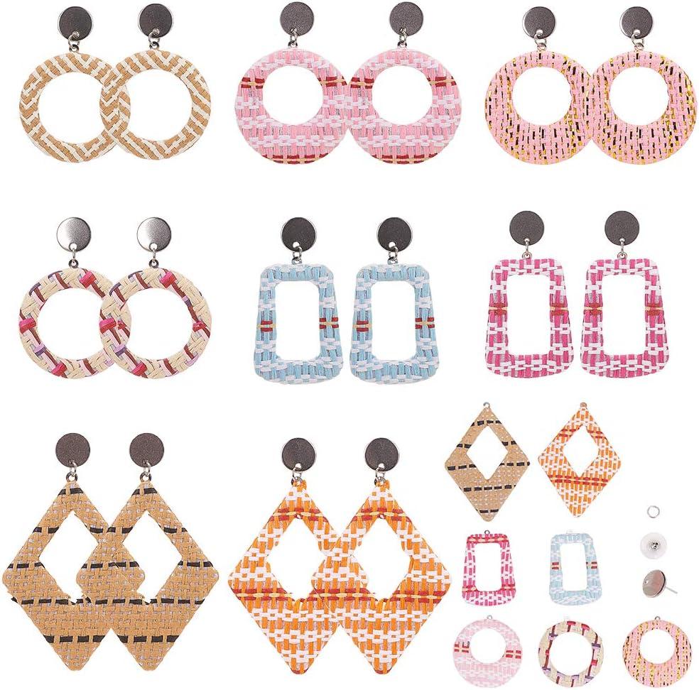 20 Pcs Stainless Steel Plastic Earring Earnuts Earrings Back  12x7mm Hole 0.7mm