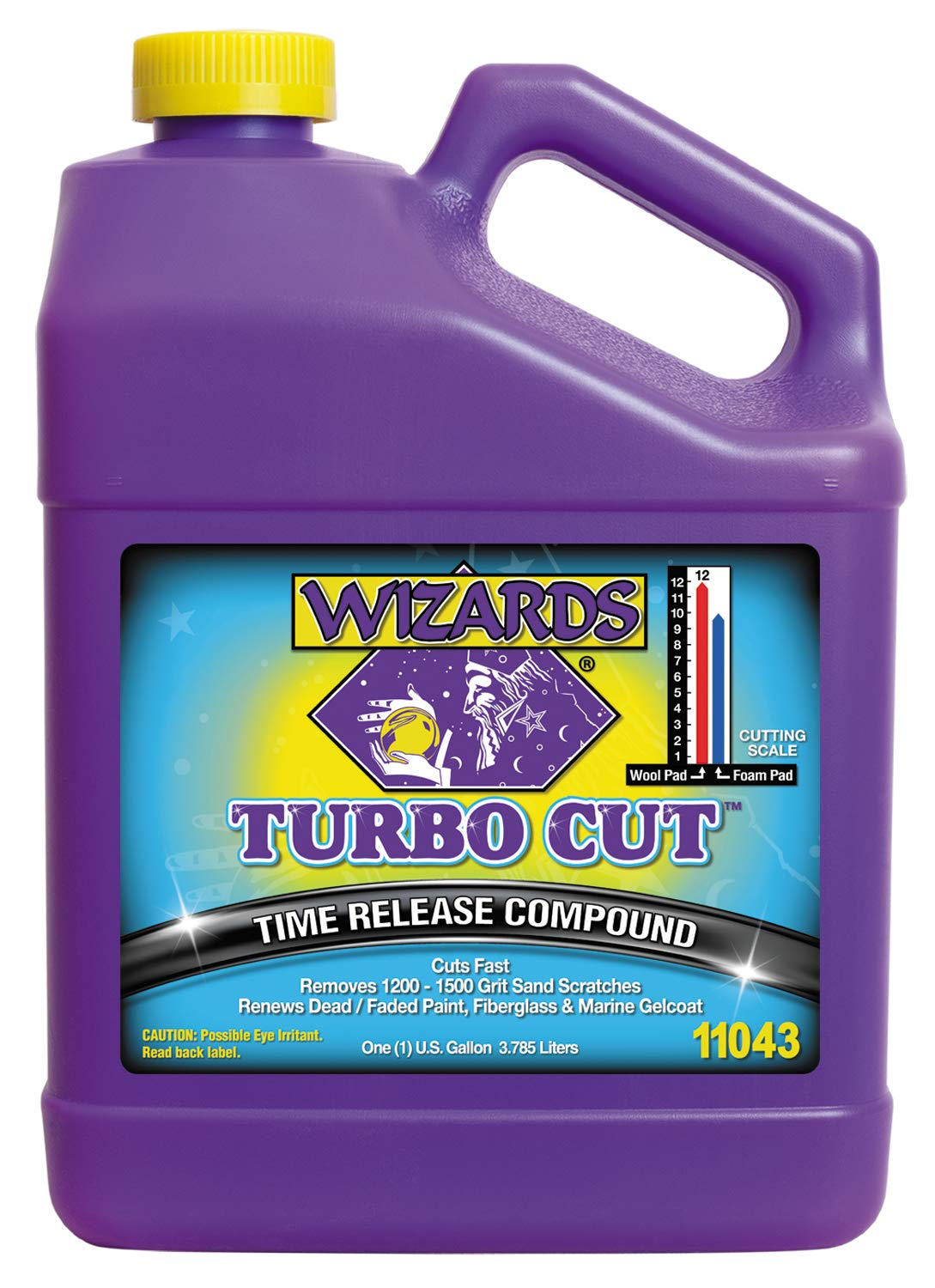 Wizards Buffing Liquid - Cutting Compounds & Polish Machine Glaze (Gallon, Turbo Cut Compound) by Wizards