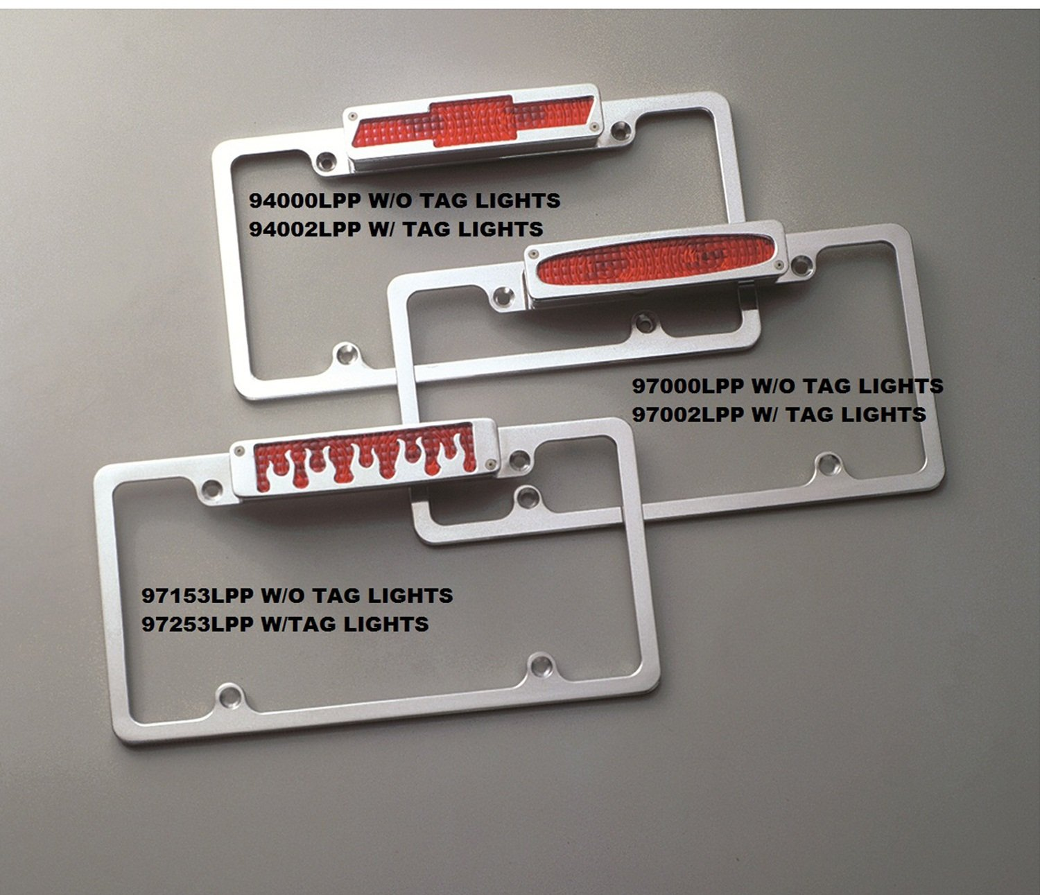 All Sales 97253LP License Frame with Third Brake Light ALS:97253LP