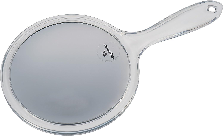 Fantasia Espejo de Mano con Mango, Doble Cara, Normal y 5 aumentos, diámetro de 15 cm, Longitud de 27 cm, acrílico