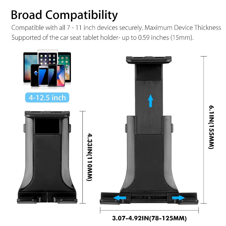 Support de Tablette arri/ère pour t/él/éphone avec Rotation /à 360 /° pour Tablette 7-11 Pouces EEEKit Support de Tablette dappui-t/ête de Voiture Support de Voiture r/églable pour Appui de Voiture