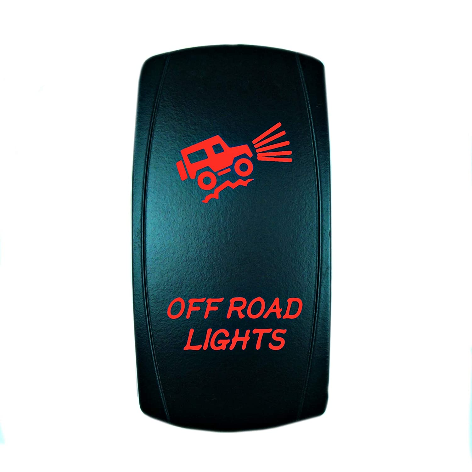 Bumper Lights, Red UTV Utility and Off-Road Vehicles ATV Interior Accessories for Car Truck STVMotorsports 5 Pin Laser Automotive Rocker Switches On//Off LED Light 12V 20A