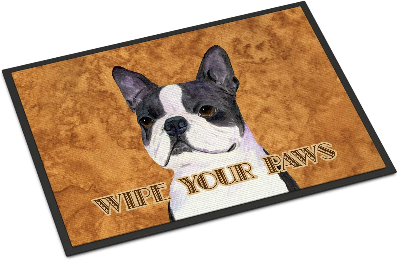 Caroline s Treasures SS4884MAT Boston Terrier Wipe Your Paws Indoor or Outdoor Mat 18×27, 18H X 27W, Multicolor