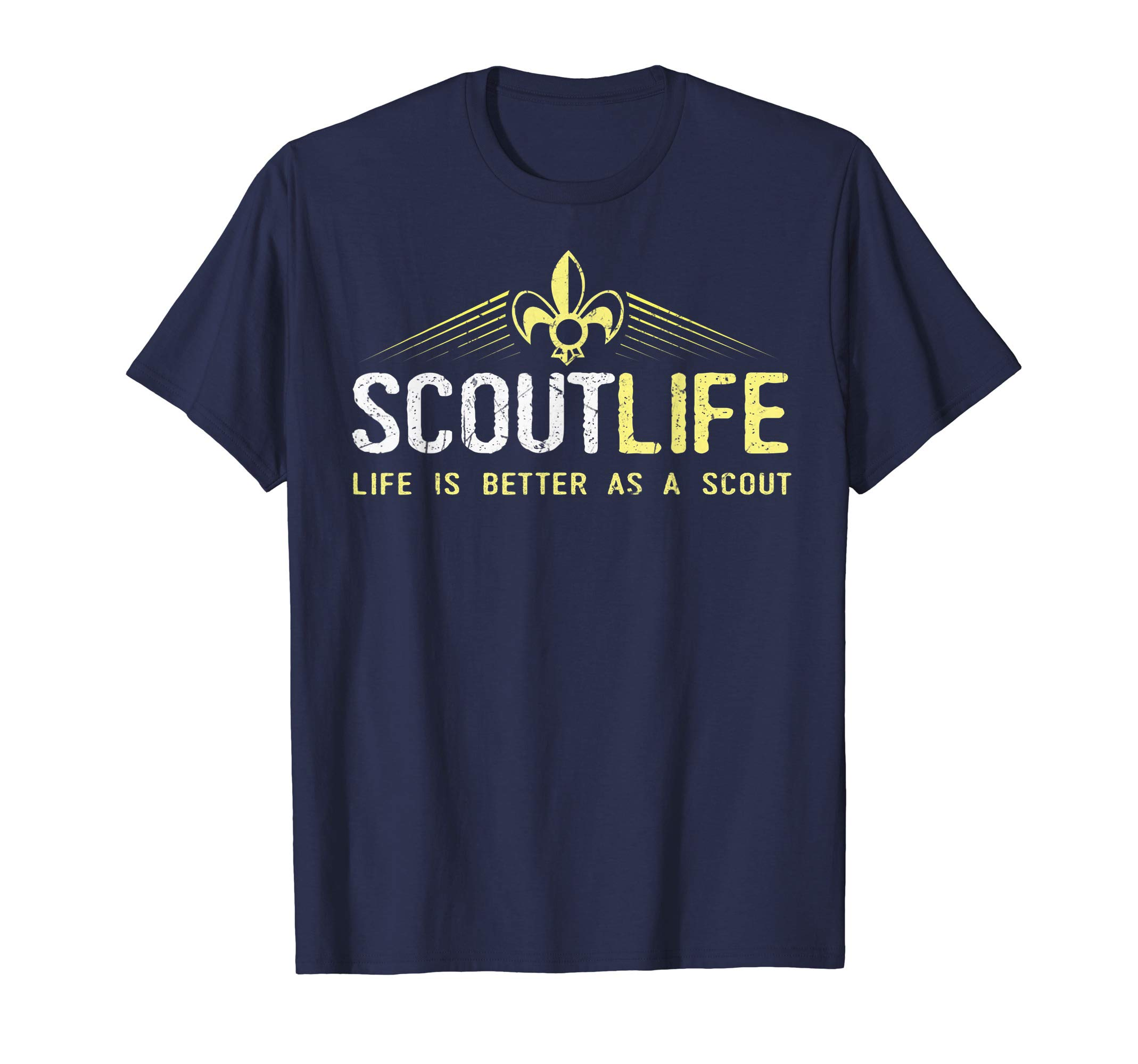 Scout Life and Life Is Better As A Scout gift T-Shirt by Cub Camping Hiking Scouting Gifts