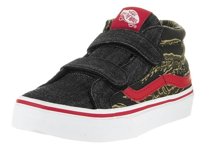 Amazon.com: Vans Kids Sk8-Mid Reissue V (Camo & Denim) Camo/Denim/True White Skate Shoe 11.5 Kids US: Shoes