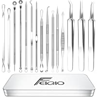 2021 Latest 15 PCS Blackhead Remover Tools, Pimple Popper Tool Kit, Acne Extractor Tool , Professional Stainless Pimple…